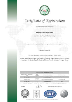 Exquip Germany GmbH ISO 9001 certificate